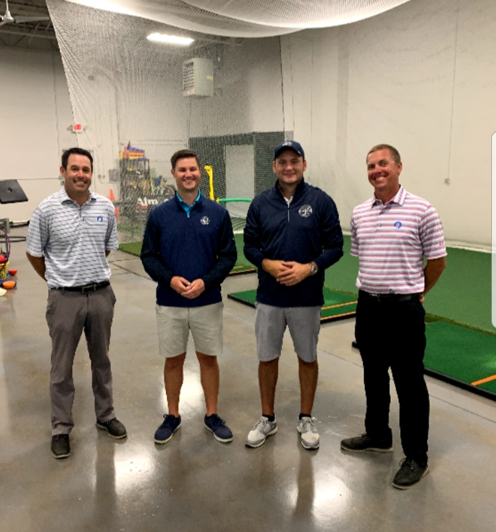 Mike Sullivan and Kyle Bogey with GLA staff